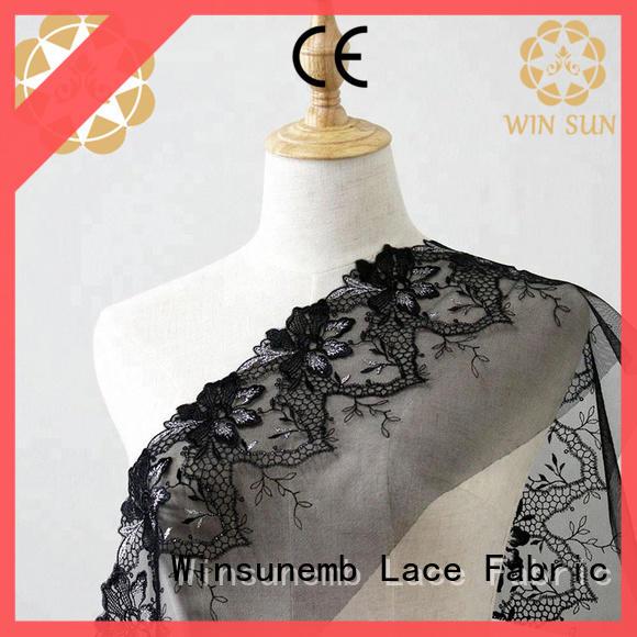 Winsunemb durable lace fabric wholesale shop now for apparel