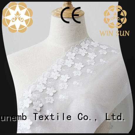 Winsunemb embroidered lace fabric by the yard grab now for underwear