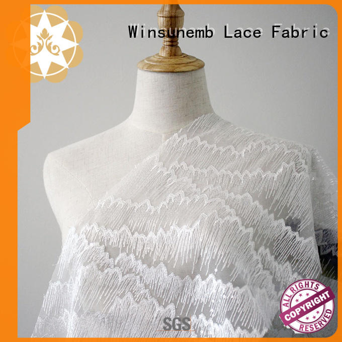 french water Embroidery Lace Fabric flower Winsunemb Brand company