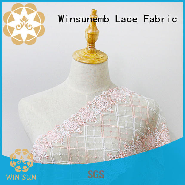 durable embellished lace fabric producer for underwear
