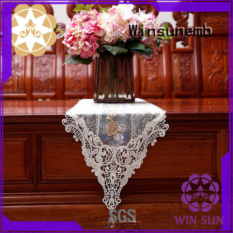 fine qualtiy white lace table runner shop now for end table Winsunemb