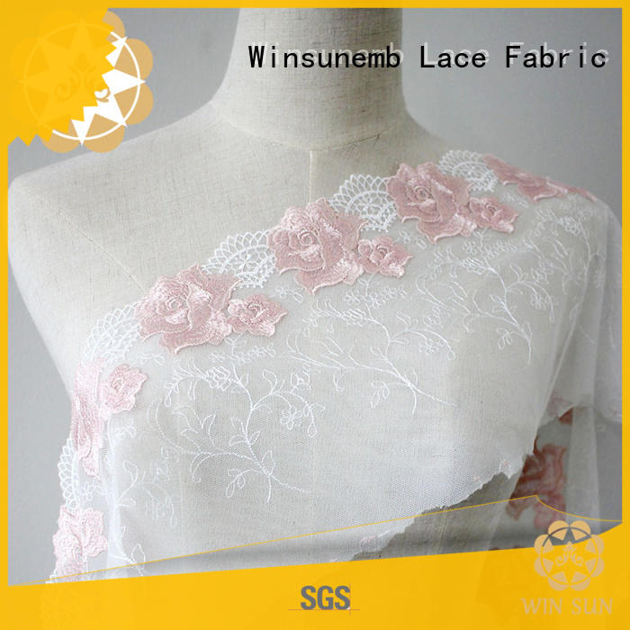 elegant cotton lace fabric butterfly bulk production for underwear