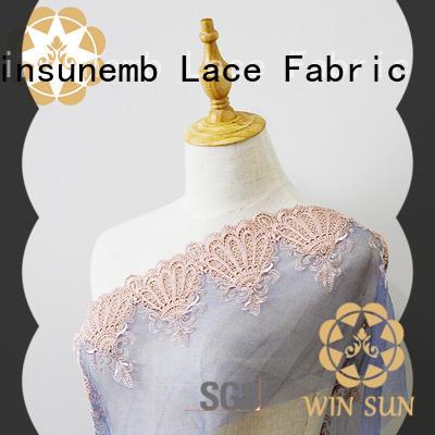Winsunemb elegant lace fabric for apparel
