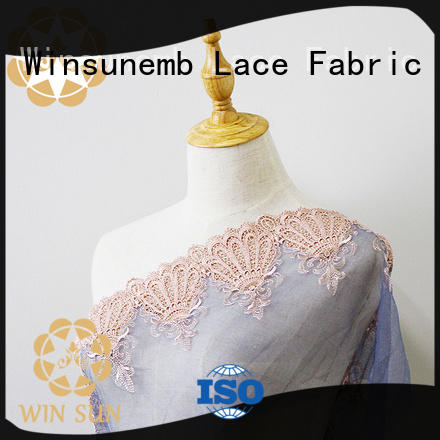 professional lace by the yard red for apparel