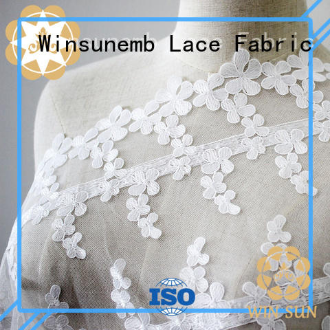Winsunemb style bridal lace fabric order now for underwear