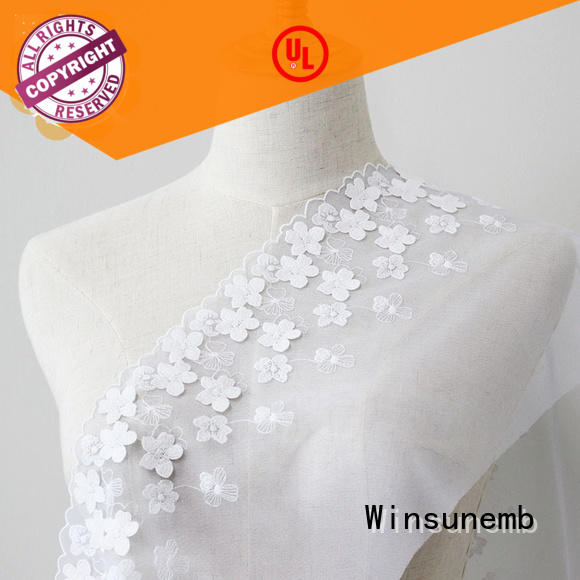 Winsunemb elegant where to buy lace fabric whole for apparel
