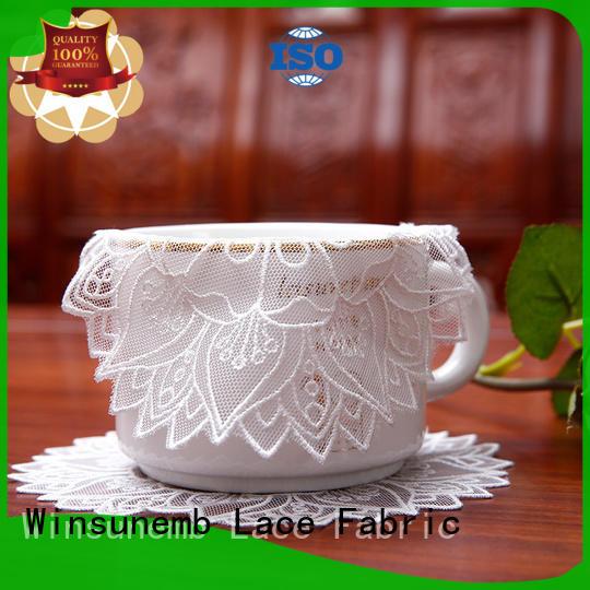 Winsunemb superb lace placemats bulk production for end table