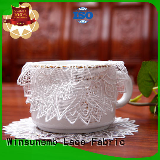 Winsunemb superb lace placemats bulk production for end table
