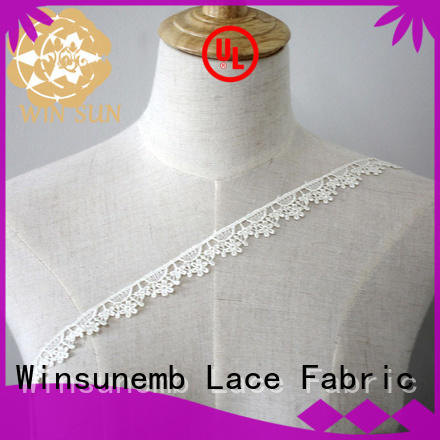 Embroidery Lace Trimming exquisiteness bulk production for fashion garment