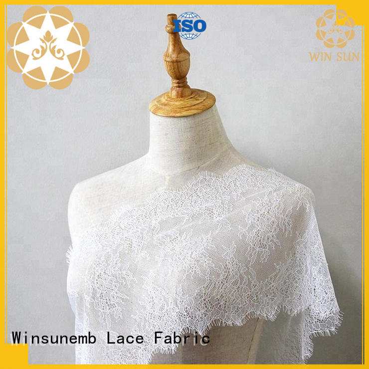 Winsunemb sequin lace fabric wholesale order now for underwear