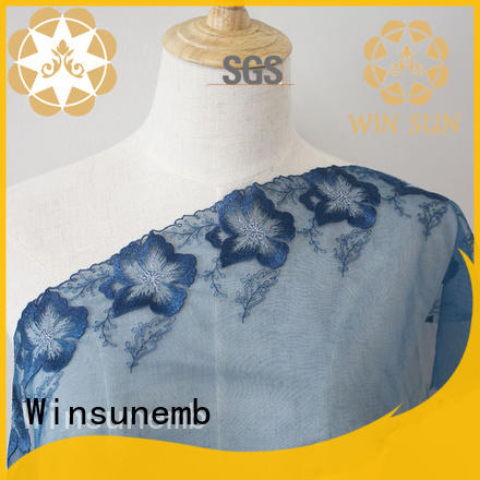 Winsunemb guipure lace fabric in china for underwear
