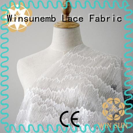 Winsunemb vintage guipure lace fabric for apparel