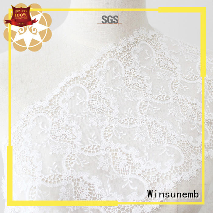 Hot Embroidery Lace Fabric ripples Winsunemb Brand
