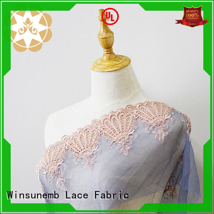flower Embroidery Lace Fabric for manufacturer for apparel