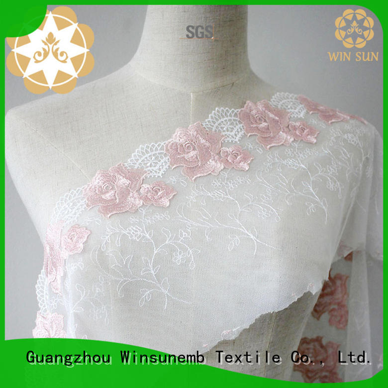 lace material double for manufacturer for apparel