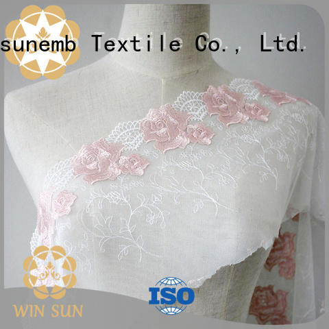 Winsunemb professional guipure lace fabric producer for apparel