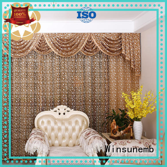 white lace curtains colorful Winsunemb Brand Embroidery Lace Curtains