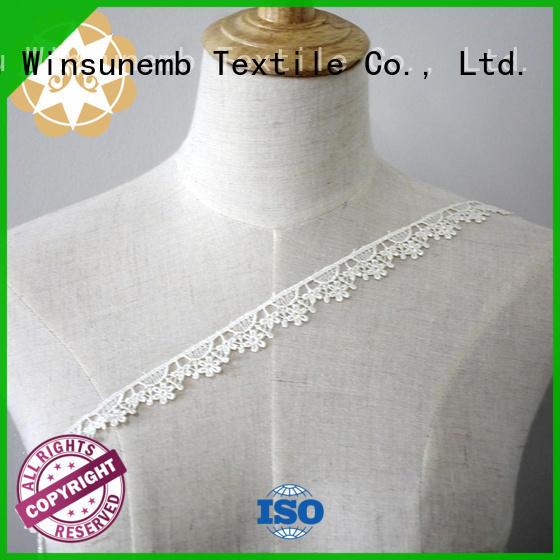 cotton garment design Winsunemb Brand Embroidery Lace Trimming supplier