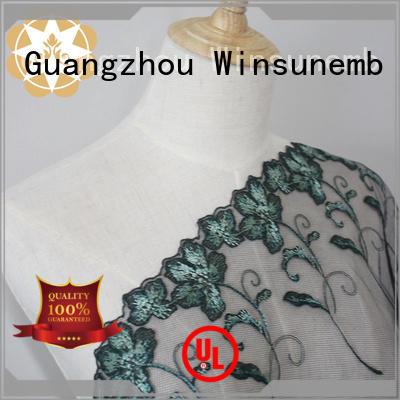 flowers style rose red lace fabric Winsunemb Brand