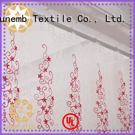 superior Embroidery Lace Curtains tier directly sale for window