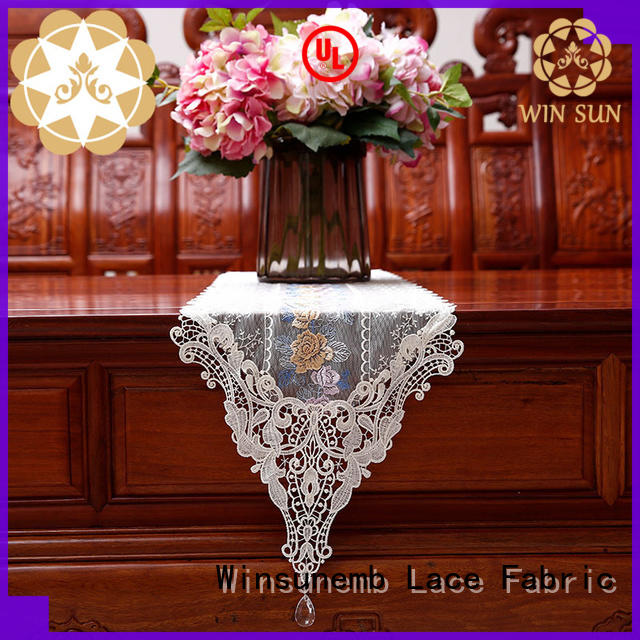 Winsunemb high quality lace table runners wedding grab now for pianos