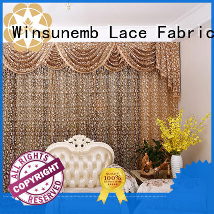 embroidered inches Embroidery Lace Curtains designs Winsunemb Brand company