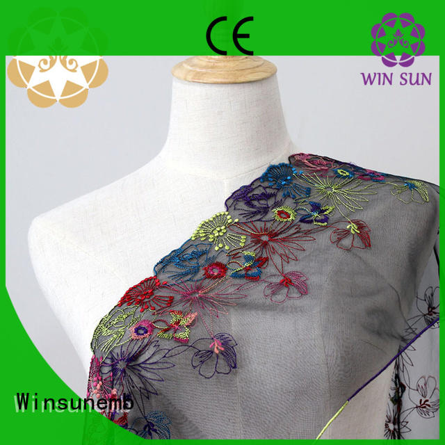 Embroidery Lace Fabric colorful Floral Lace For Lingeries