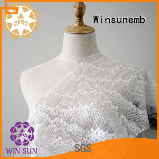 Winsunemb pink lace fabric shop now for apparel