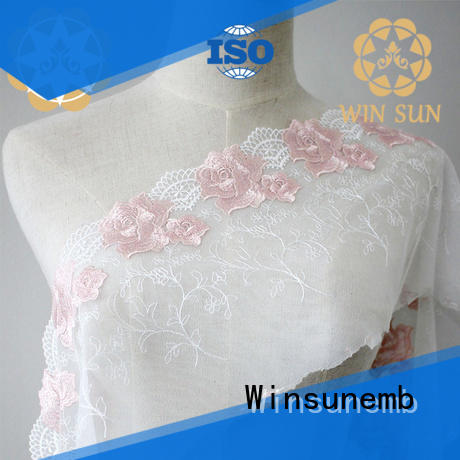 Winsunemb star bridal lace by the yard for apparel