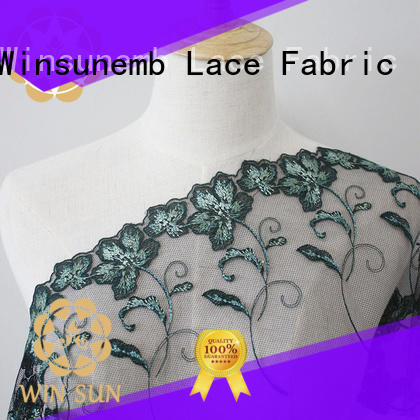 Winsunemb childrens lace material producer for underwear