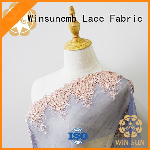 Winsunemb yarn vintage lace in china for apparel