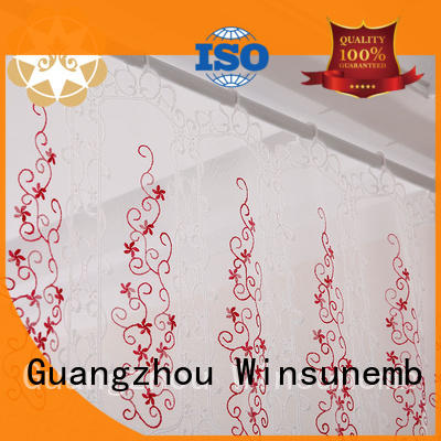 Hot white lace curtains inches Winsunemb Brand