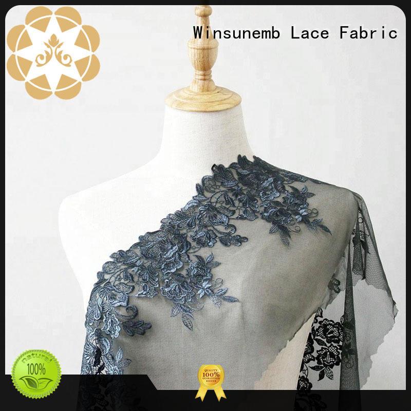 thread beaded lace fabric for apparel Winsunemb