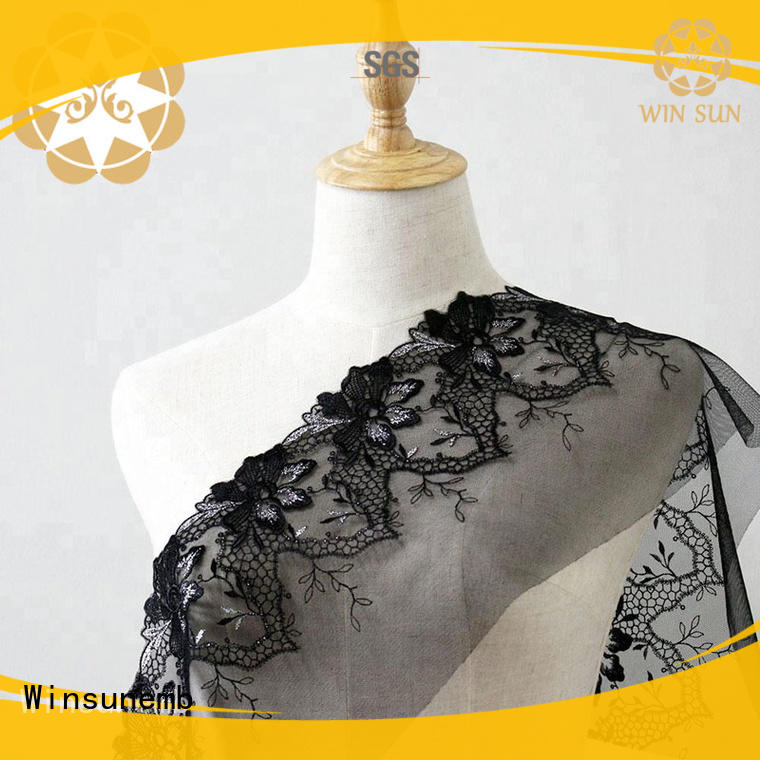 Winsunemb ws8063395 lace fabric online for manufacturer for apparel