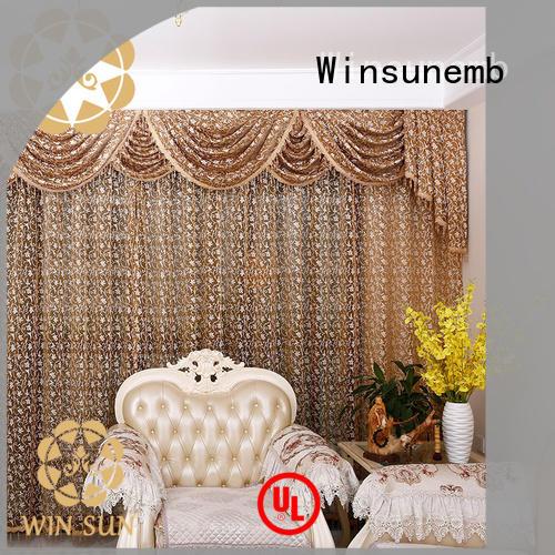 Winsunemb elegant lace drapes directly sale for window