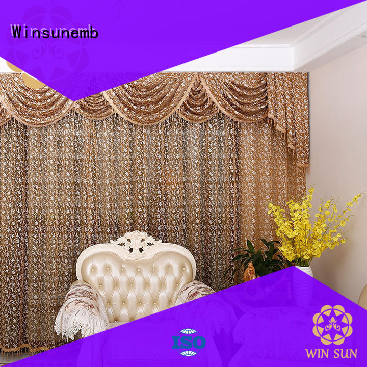 Winsunemb short lace curtain in china for window