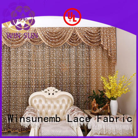 designs Embroidery Lace Curtains short Winsunemb company