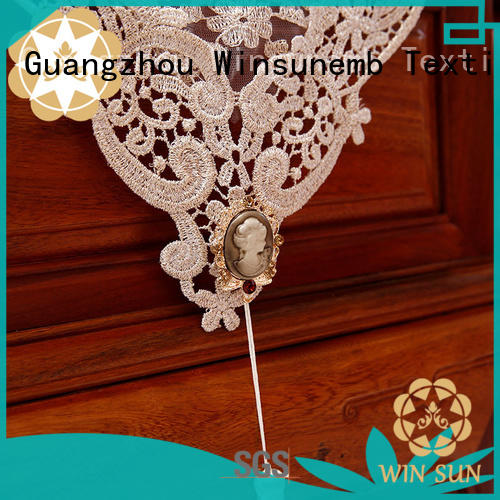 Winsunemb lacegold lace runners in china for end table