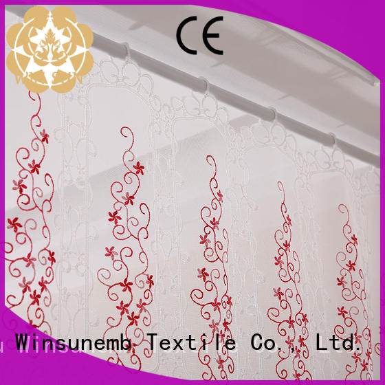good looking lace curtain room factory price for window