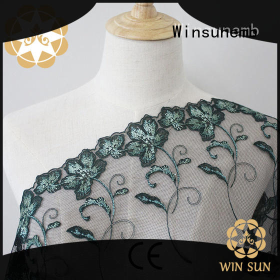 Winsunemb durable lace by the yard producer for underwear