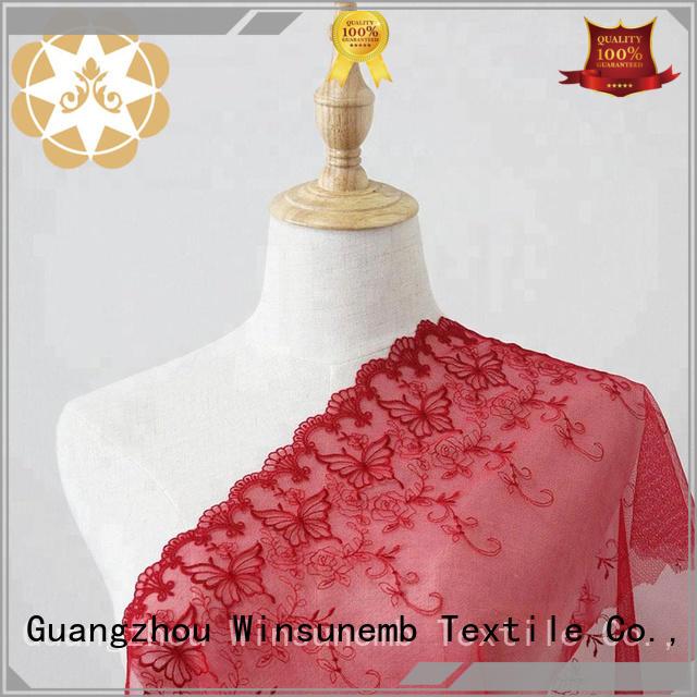embroidery guipure lace fabric bulk production for underwear Winsunemb
