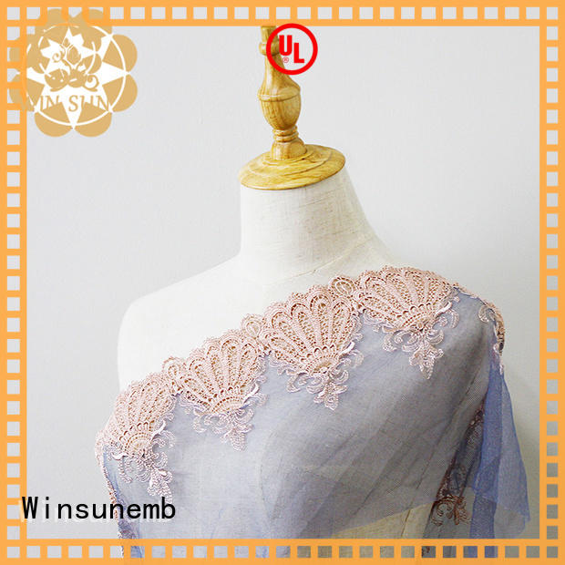 elegant guipure lace fabric mesh for manufacturer for apparel