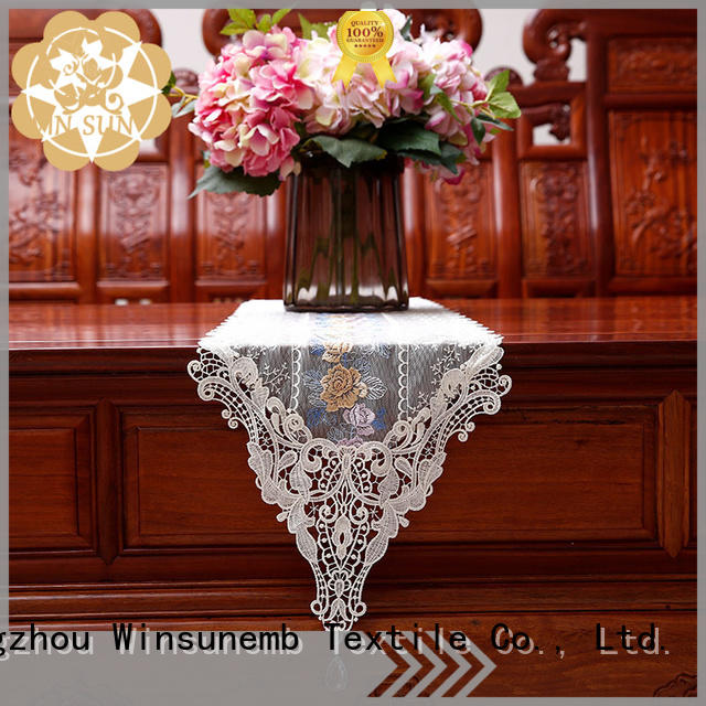 Winsunemb nop806 lace table runners wedding for sideboards