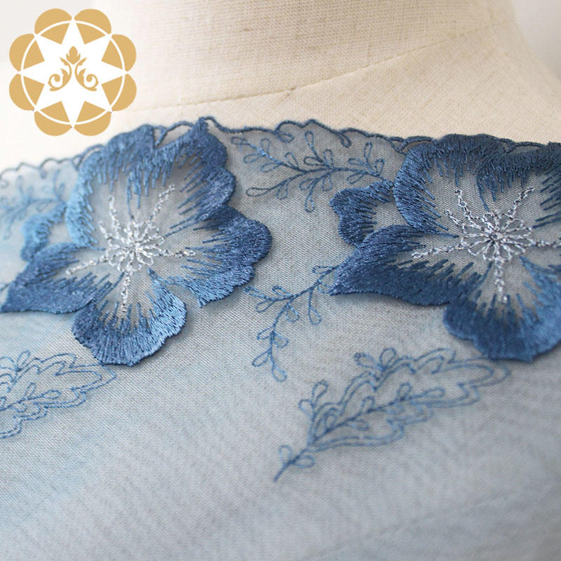 different color white lace fabric anglaise for apparel-3