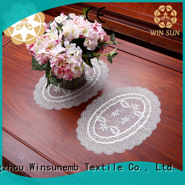 Winsunemb lace coasters for manufacturer for end table
