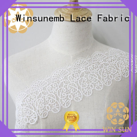 Winsunemb women lace trim by the yard in china for bedclothes