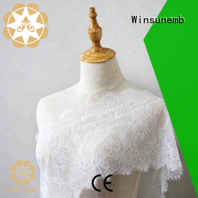 Winsunemb professional lace fabric producer for underwear