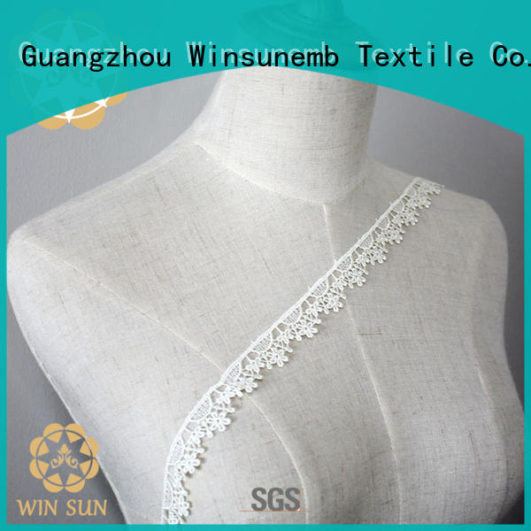Winsunemb Brand cut white flower vintage Embroidery Lace Trimming