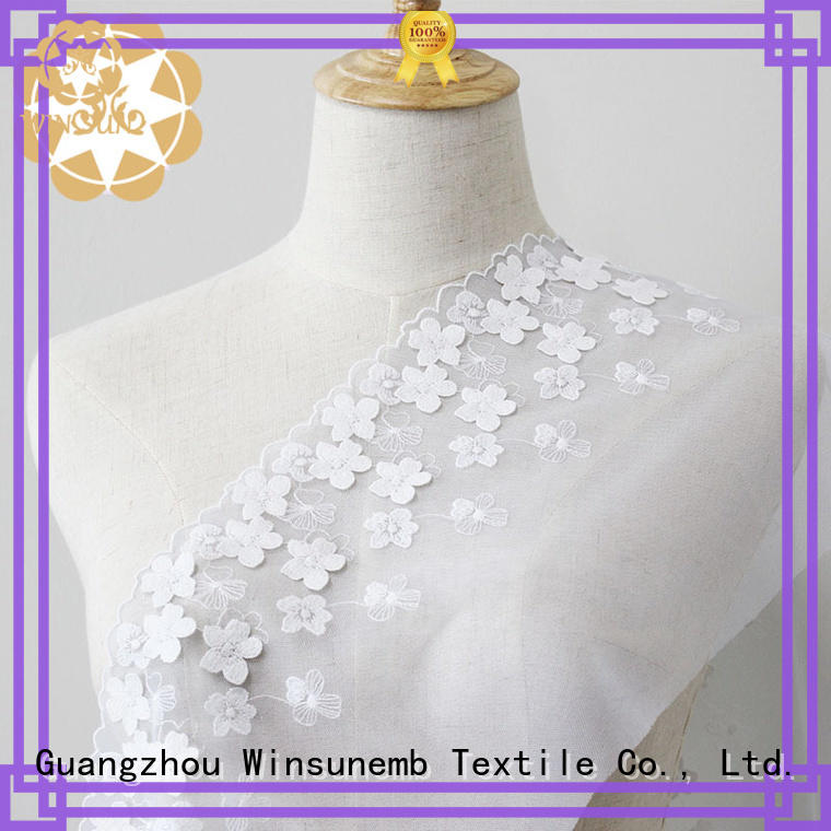professional embroidered lace fabric by the yard shop now for underwear