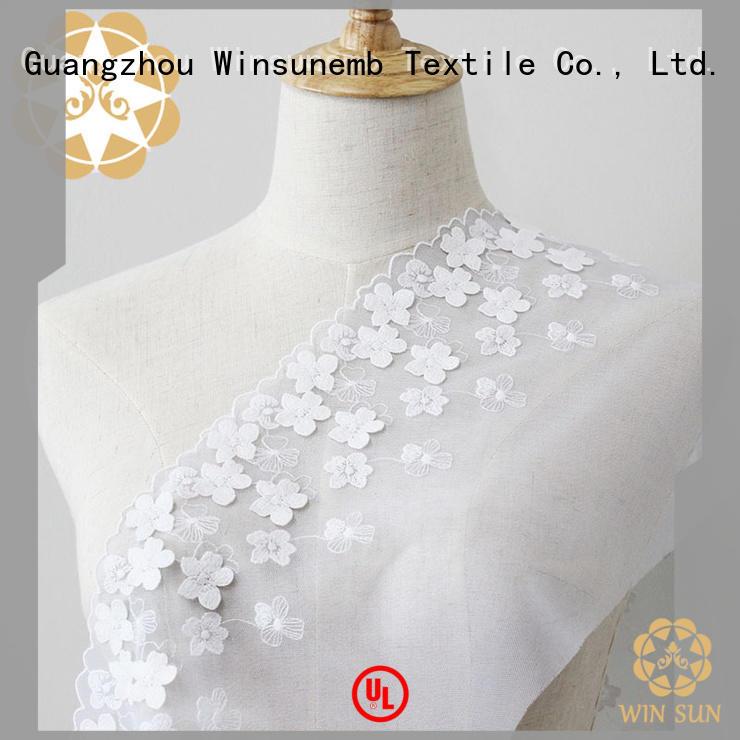 elegant cotton lace fabric winsunemb2019 producer for underwear